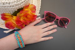 Young girls' fashion accessories Stock Images