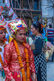 Young Girls in GaijatraThe Festival of Cows royalty free stock photography