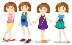 Young girls. Young girl in different costumes Royalty Free Stock Photography