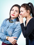 Young girls gossiping some secret Royalty Free Stock Photos