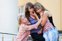 Young girls having a fun Royalty Free Stock Images