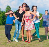 Young girls having fun Stock Images