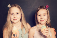 Young girls, holiday portrait Royalty Free Stock Image