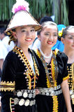Young girls from Kadazandusun tribe in their traditional costume Royalty Free Stock Image