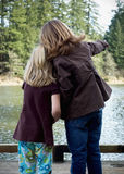 Young girls by the Lake Stock Photography