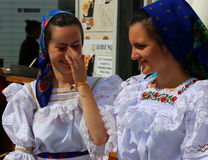 Young girls from Maramures, Romania Stock Photos