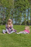 Young girls playing Stock Photography