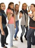 Young girls are playing on the party Stock Photography