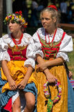 Young girls from Poland in traditional costume 8. ROMANIA, TIMISOARA - JULY 10, 2016: Young girls from Poland in traditional costume, present at the Royalty Free Stock Photo