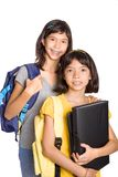 Young Girls Ready To Attend School Royalty Free Stock Photos