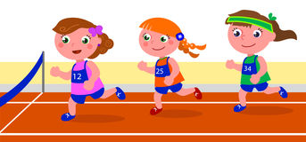 Young girls runners competition vector Stock Photography