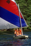 Young Girls Sailing Royalty Free Stock Images