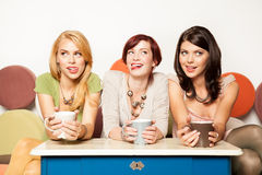 Attractive young women, kinky gesture Stock Photo