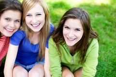 Young girls smiling Stock Images