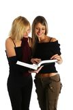 Young girls studying Stock Photos
