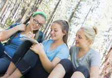 Young Girls Studying Royalty Free Stock Photo