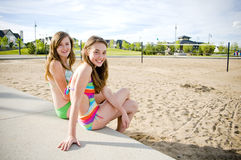 Young Girls in Sumer sun 2 Royalty Free Stock Photos