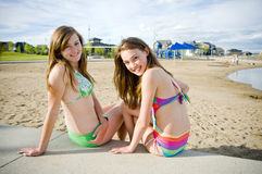 Young Girls in Sumer sun Stock Photography