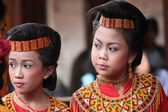 Young Girls at Toraja Funeral Ceremony Royalty Free Stock Photo