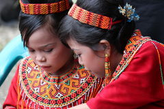 Young Girls at Toraja Funeral Ceremony Stock Image