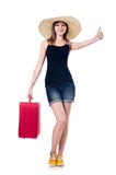 Young girls travelling Stock Photography