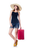 Young girls travelling Royalty Free Stock Image