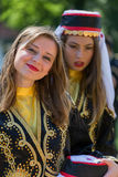 Young girls from Turkey in traditional costume Royalty Free Stock Photos