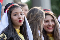 Young girls from Turkey in traditional costume 3 Stock Photography