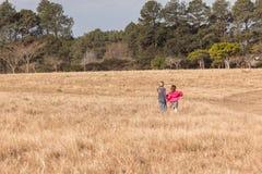 Young Girls Walking Wilderness Royalty Free Stock Image