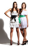 Young girls in white dresses Royalty Free Stock Photos