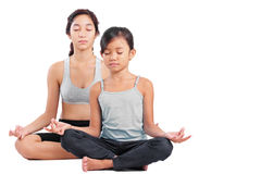 Young Girls In Yoga Stock Image