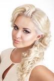 Young Glamorous Blond with Tress Royalty Free Stock Image