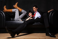 Young glamorous loving couple Royalty Free Stock Photography