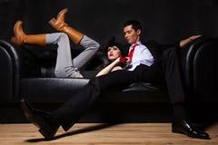 Young glamorous loving couple Royalty Free Stock Photography