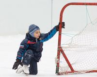 Young goalkeeper royalty free stock photos