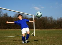 Young goalkeeper Royalty Free Stock Photo