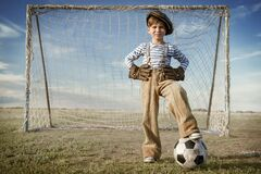 Free Young Goalkeeper On Goal Royalty Free Stock Image - 216915526