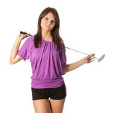 Young golf player Stock Images