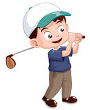Young golf player. Illustration of young golf player Royalty Free Stock Photo