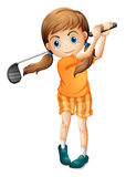 A young golf player Stock Image