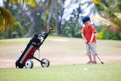 Young golfer royalty free stock photos