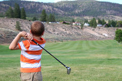 Young golfer Stock Image