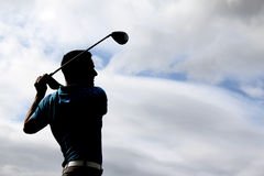 Young golfer Stock Images