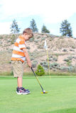 Young golfer Royalty Free Stock Image