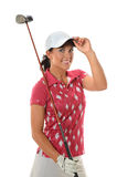 Young Golfer Saluting Royalty Free Stock Image