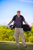 Young Golfer Swing Club Stock Photos