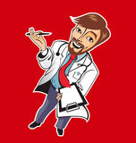 Young good doctor vector illustration