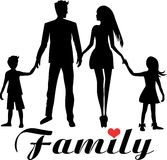 Young good looking family dad, mom, daughter and son Stock Photography