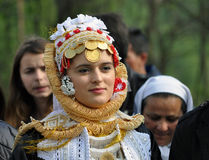 Young Gorani bride in traditional costume Stock Photography