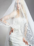 Young gorgeous bride woman with veil Royalty Free Stock Images